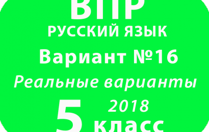 ВПР 2018 Русский язык. 5 класс. Вариант 16