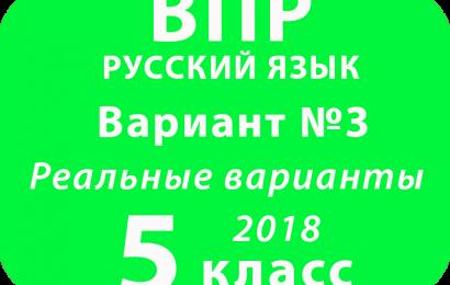 ВПР 2018 Русский язык. 5 класс. Вариант 3