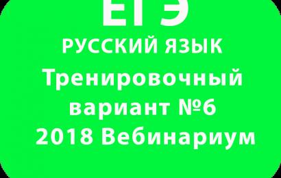 ЕГЭ РУССКИЙ ЯЗЫК 2018 Тренировочный вариант №6 Вебинариум