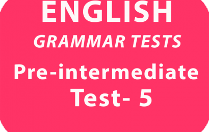 English Gramar Tests Pre-Intermediate Test 5 online