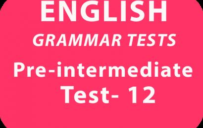 English Grammar Tests Pre-Intermediate Test 12 online