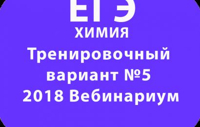 ЕГЭ ХИМИЯ 2018 Тренировочный вариант №5 Вебинариум